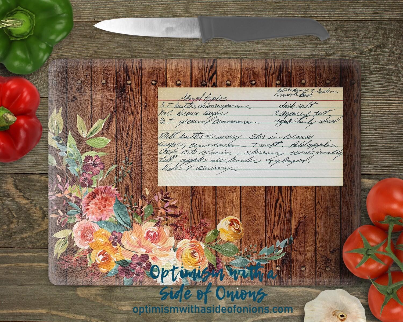 Cutting Board featuring Handwriting