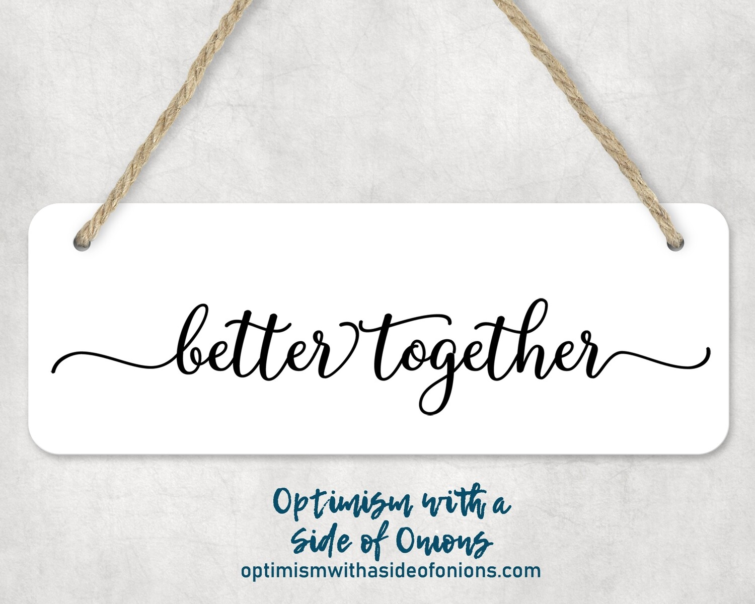 """Better Together"" Wall Decor"