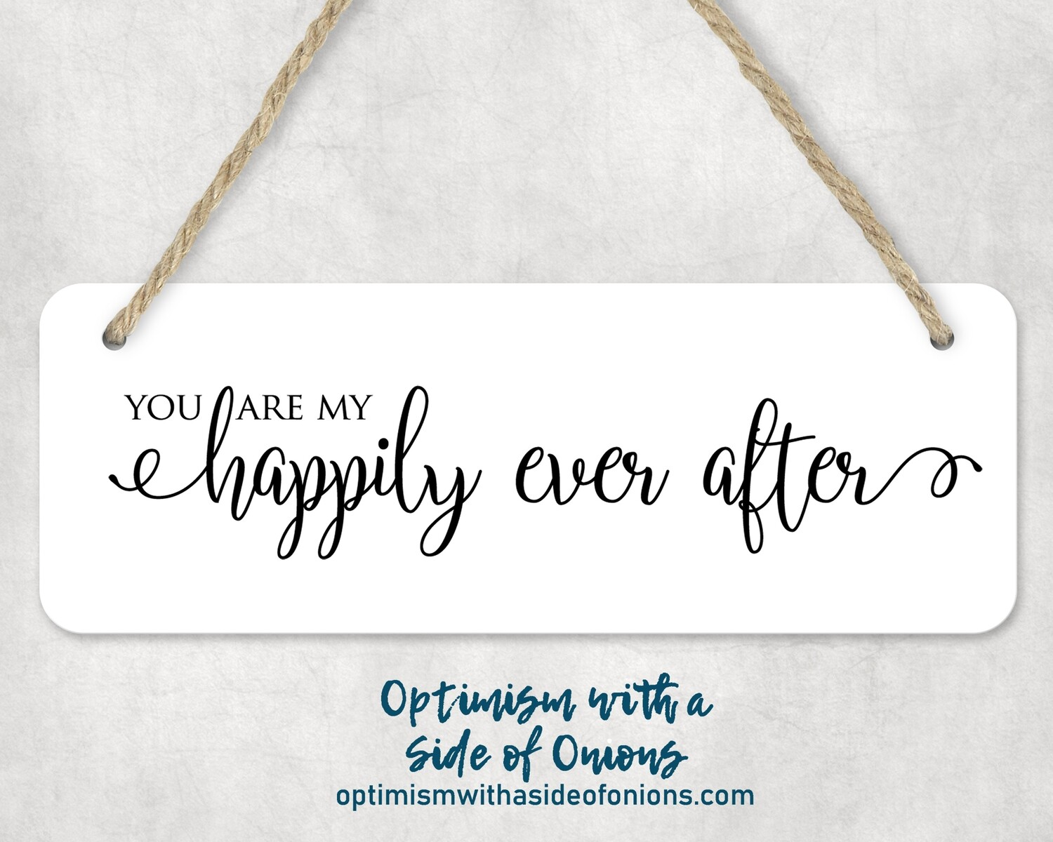"""Happily Ever After"" Wall Decor"