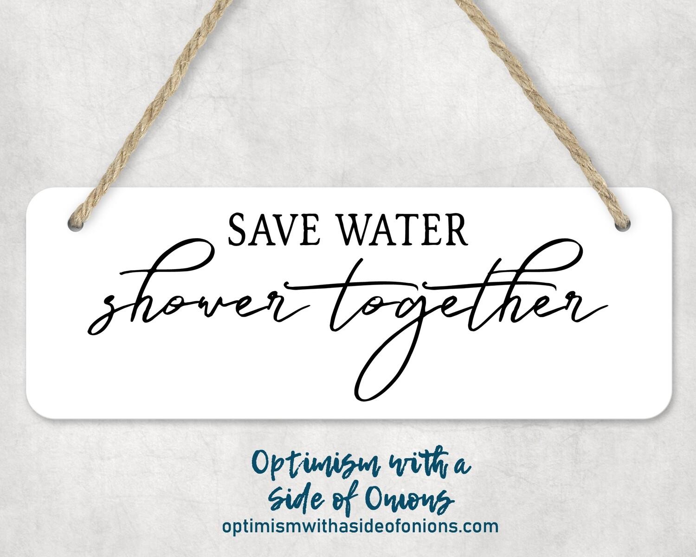 """Save Water"" Wall Decor"