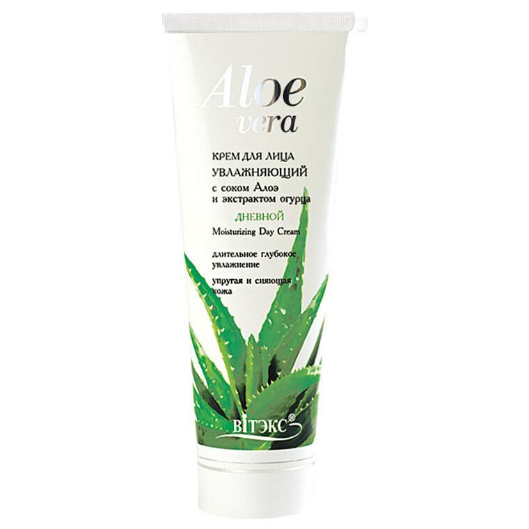 Витэкс   Aloe vera   КРЕМ ДНЕВНОЙ для лица увлажняющий с соком алоэ и экстрактом огурца, 75 мл