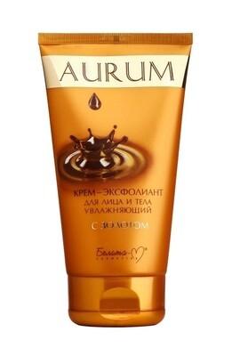 Aurum | КРЕМ-эксфолиант для лица и тела увлажняющий с золотом, 145 г | Belita-M