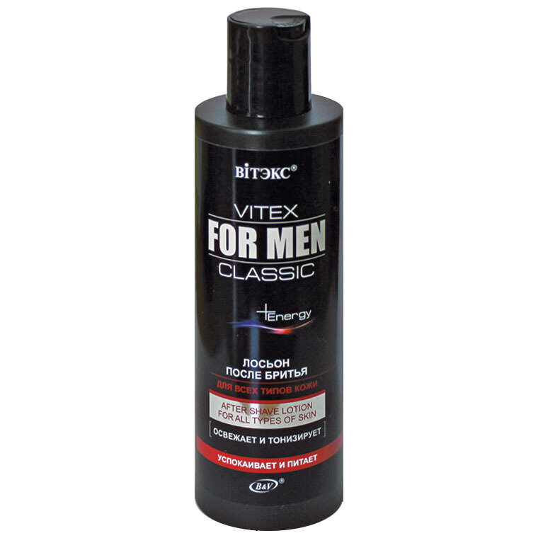 VITEX FOR MEN CLASSIC    Лосьон после бритья для всех типов кожи, 200 мл