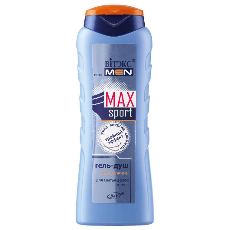 VITEX for MEN sport MAX |  ГЕЛЬ-ДУШ для мытья волос и тела, 400 мл
