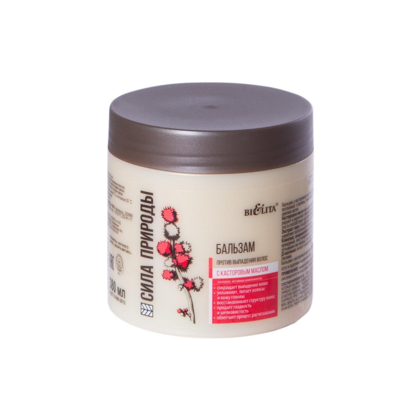 Сила природы | БАЛЬЗАМ с касторовым маслом против выпадения волос, 380 мл