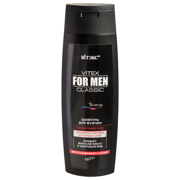 Витэкс | VITEX FOR MEN CLASSIC |  ШАМПУНЬ для мужчин ежедневный уход, 400 мл