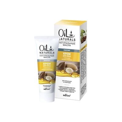Белита | OIL NATURALS | Крем для лица с маслами АРГАНЫ и ЖОЖОБА Лифтинг, 50 мл