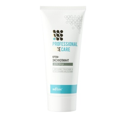 Белита   Face care   КРЕМ-ЭКСФОЛИАНТ для лица с мягкими гранулами и фруктовыми кислотами (гликолевая, молочная, лимонная), 200 мл