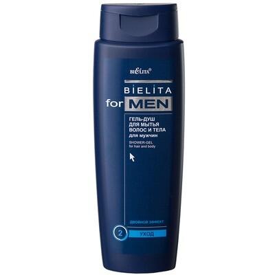Белита | Bielita for men |  ГЕЛЬ-ДУШ для мытья волос и тела для мужчин, 400 мл