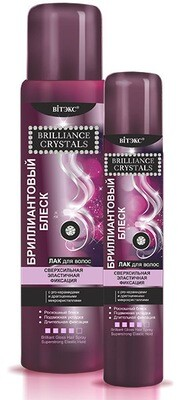 Витэкс | Brilliance Crystals | ЛАК для волос Бриллиантовый блеск, сверхсильная эластичная фиксация, 500 мл