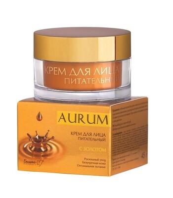 Aurum   КРЕМ для лица питательный с золотом, 45 г   Belita-M
