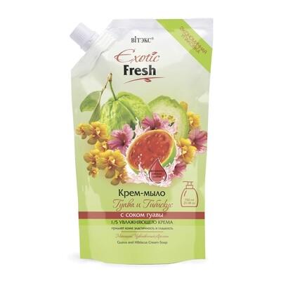 Витэкс | Exotic Fresh Крем-мыло | Гуава и Гибискус, дой-пак, 750 мл