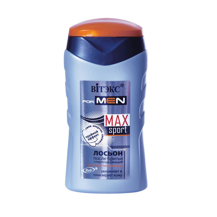 Витэкс | VITEX FOR MEN sport MAX |  Лосьон после бритья для всех типов кожи, 150 мл