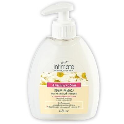 Белита | Intimate | Крем-мыло для интимной гигиены Antimicrobial, 300 мл