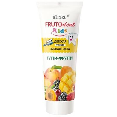 Витэкс | FRUTOdent Kids | Зубная паста Детская Гелевая Тутти-Фрутти, 65 г