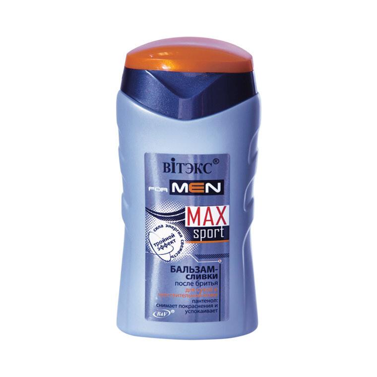 Витэкс | VITEX FOR MEN sport MAX |  БАЛЬЗАМ-СЛИВКИ после бритья для сухой и чувствительной кожи, 150 мл