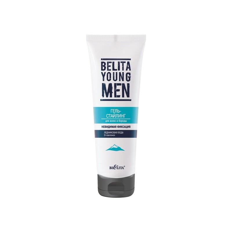 Белита | BELITA YOUNG MEN |  ГЕЛЬ-СТАЙЛИНГ для волос и бороды, 100 мл