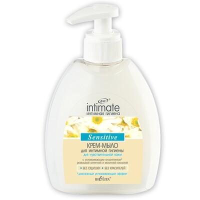 Белита | Intimate | Крем-мыло для интимной гигиены для чувствительной кожи Sensitive, 300 мл