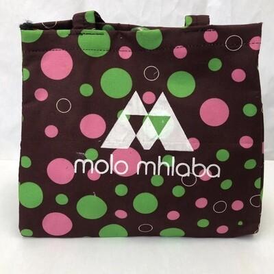 Chocolate brown large bubble print handbag
