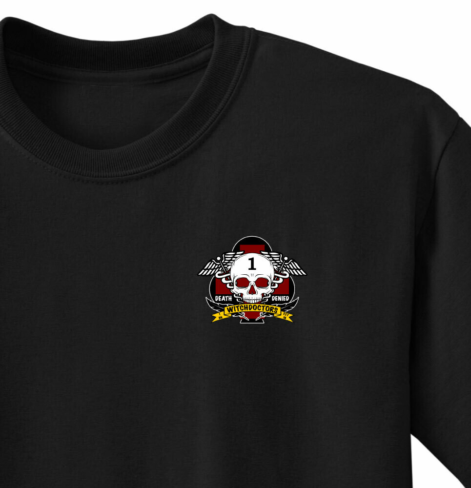 "1-327th HHC ""Witchdoctors""  Medics Shirt"
