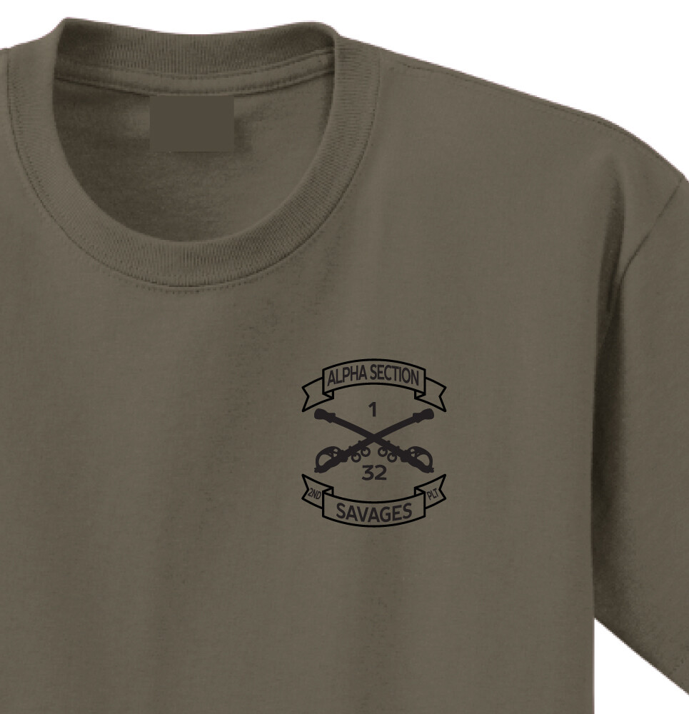 "1-32 CAV A TRP 2PLT ""Savages"" Shirt"