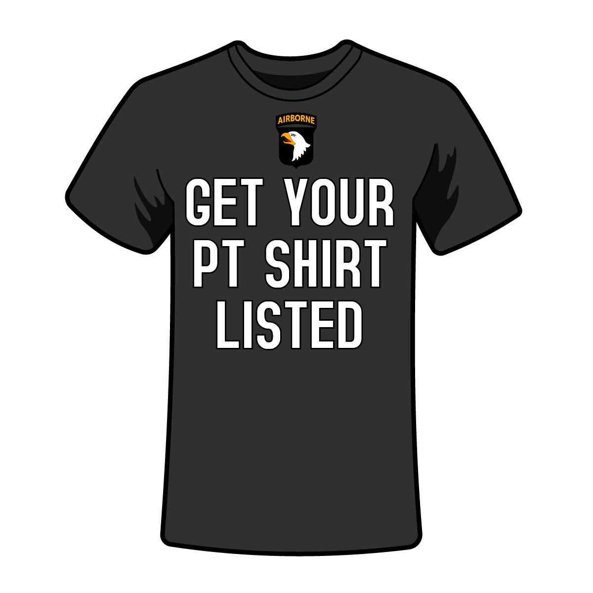 List a New PT Shirt Design