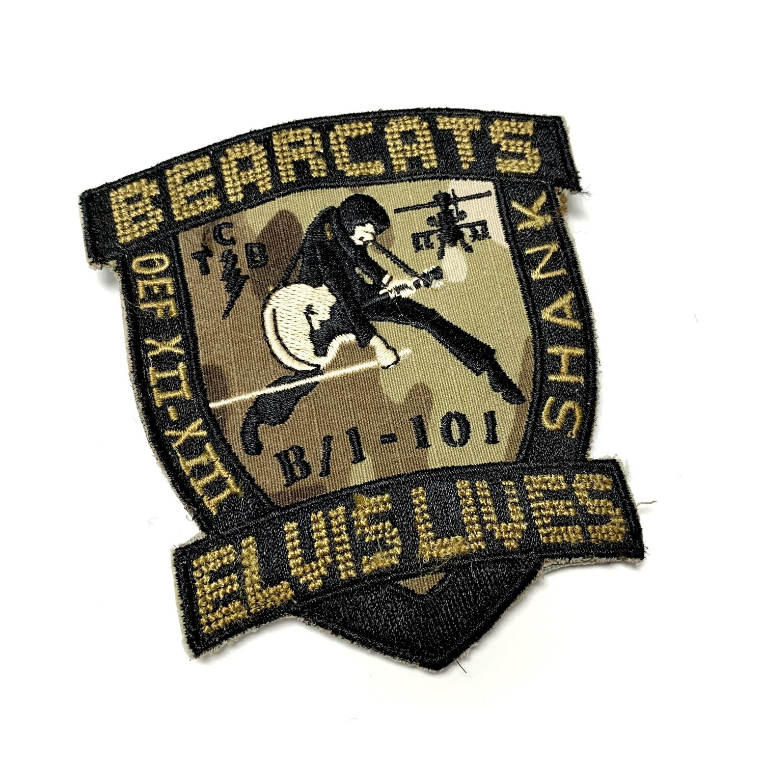 """B Co 1-101 """"Bearcats"""" OEF XII-XIII Legacy Patch"""