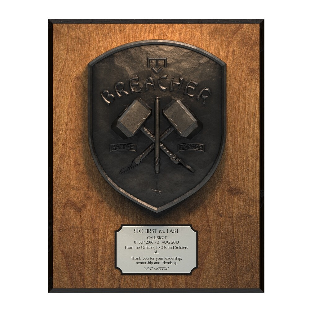 Breacher Plaque