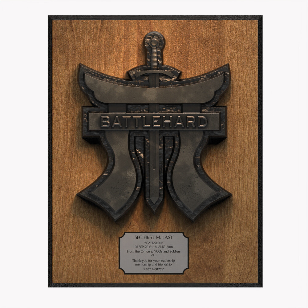 Battlehard Plaque