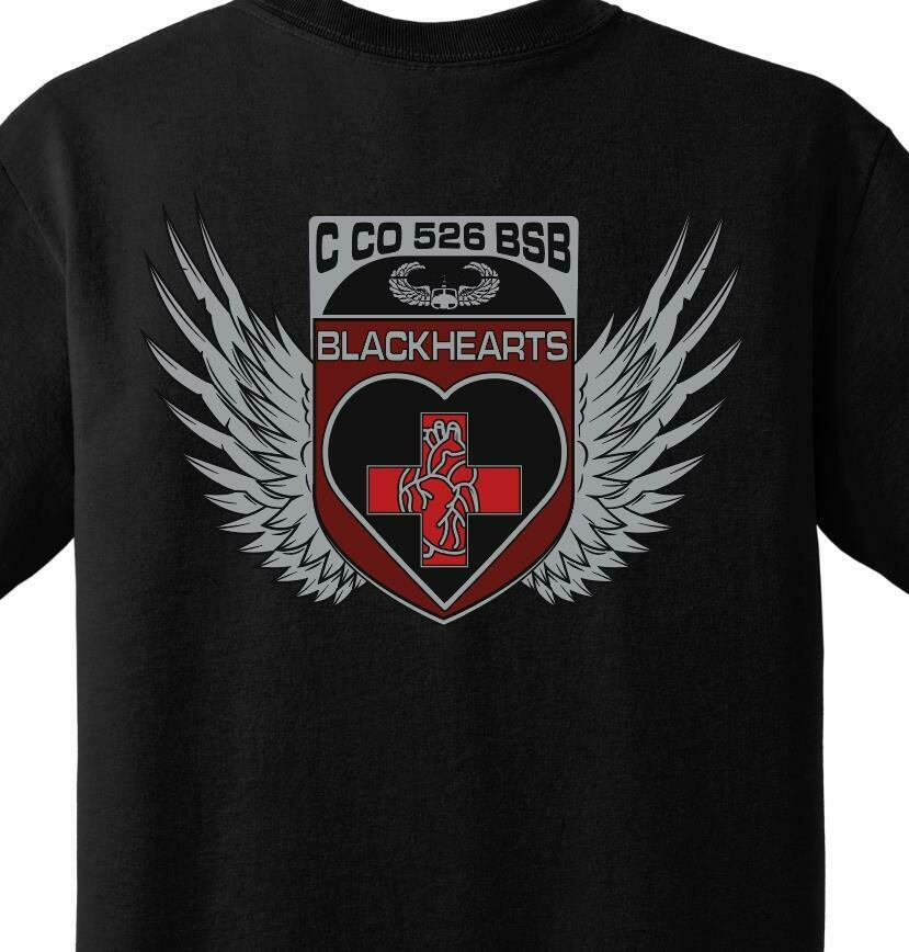 "C Co 526 BSB ""Blackhearts"" PT Shirt"