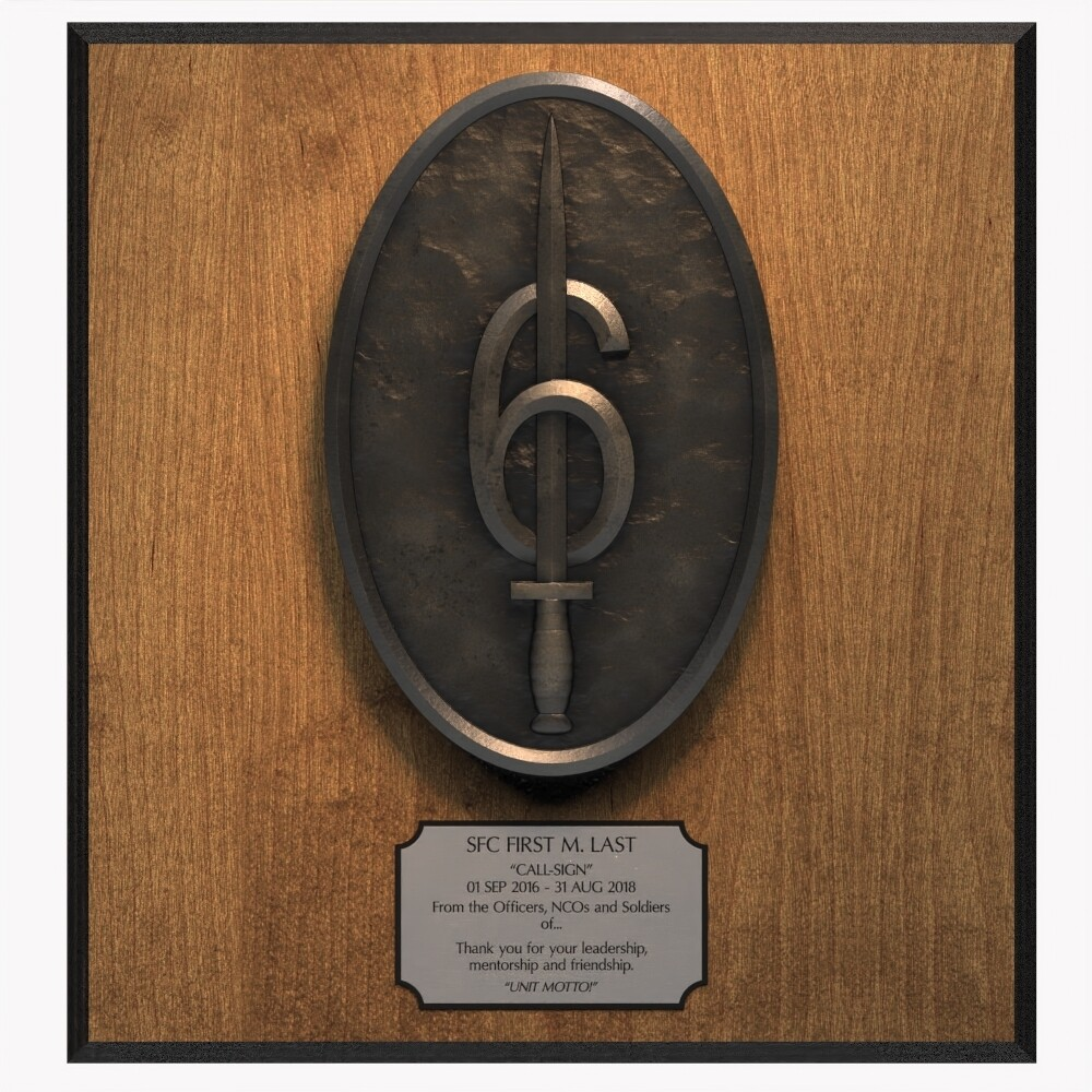 """""""6 Guns"""" 160th SOAR(Abn) Plaque"""