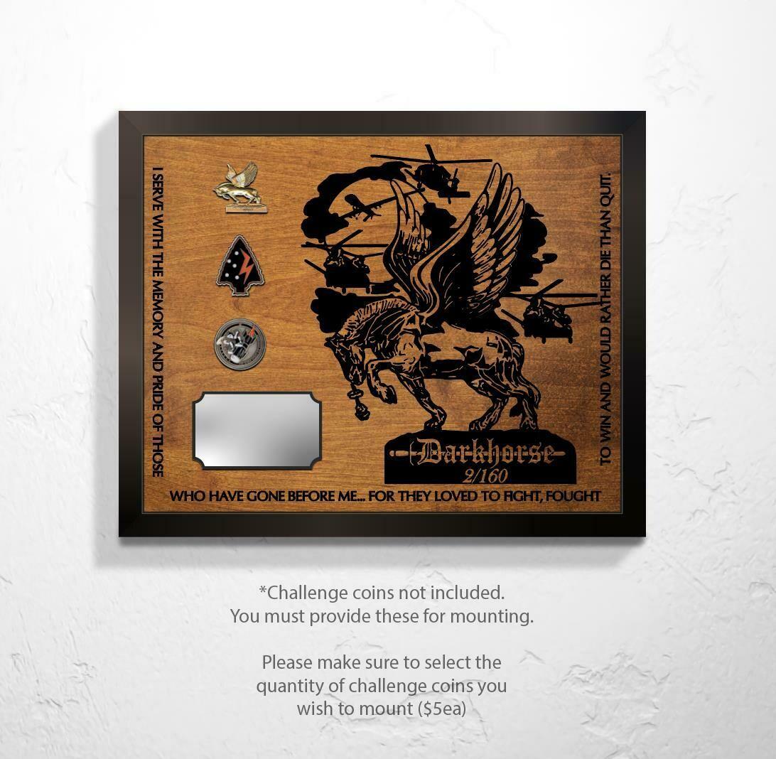 "2-160th - Darkhorse Plaque 20.5""x16.5"""