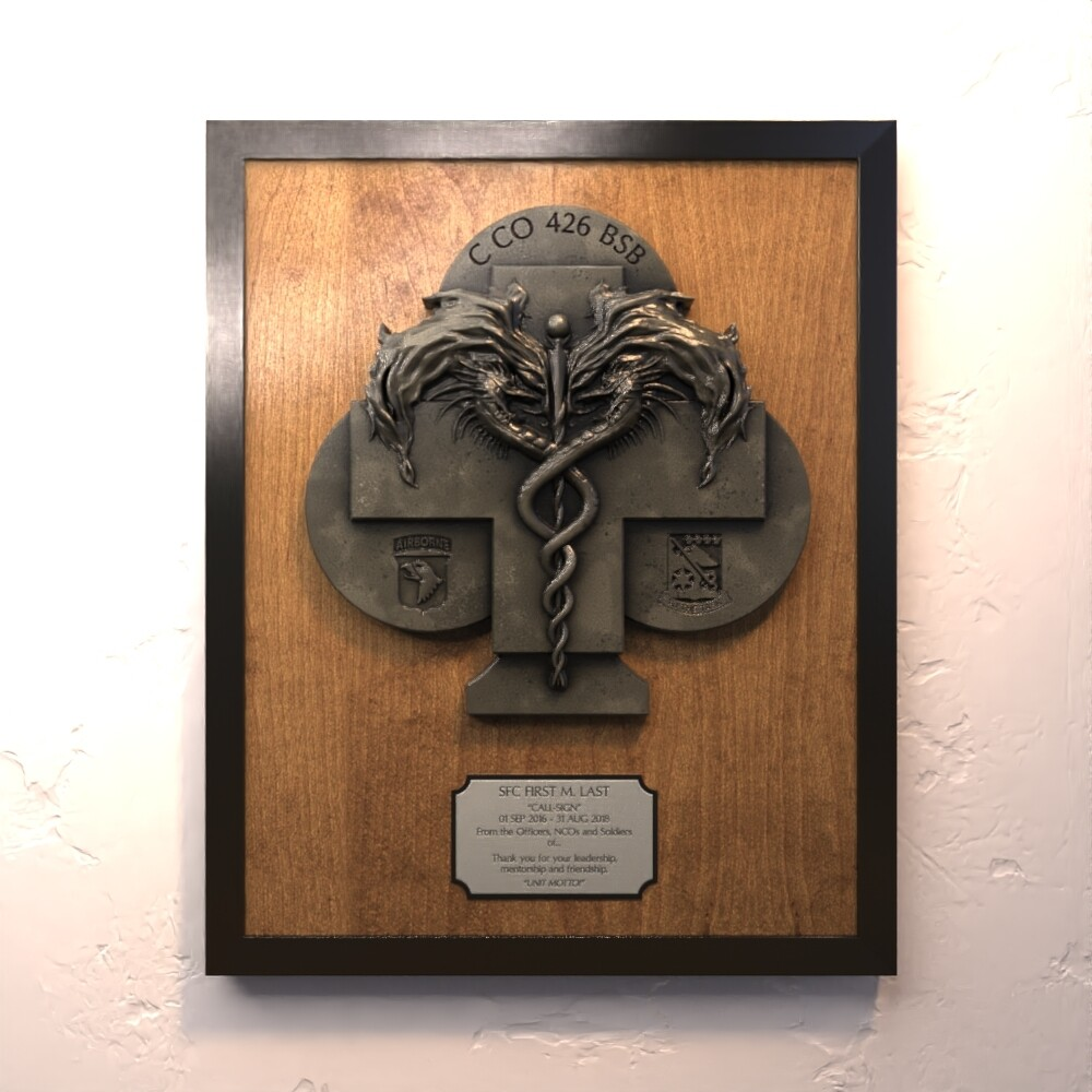"""C Co 426 """"Coldblooded"""" Plaque"""