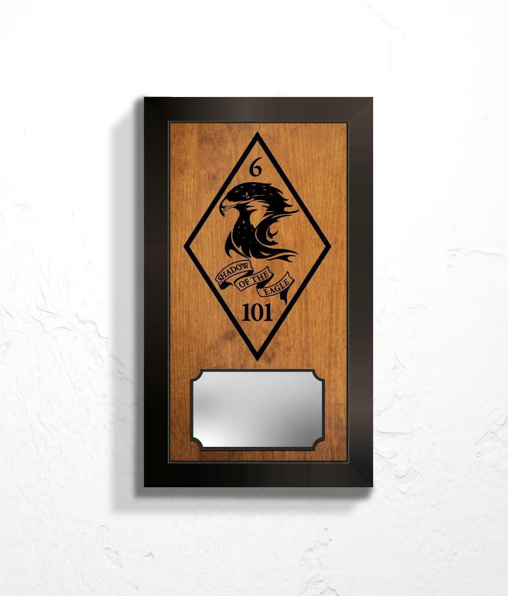 "6-101 Plaque - 14.5' x 8.5"""