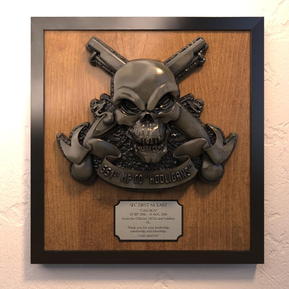 """551st MP Co. Plaque - 18.5"""" x 16.5"""""""