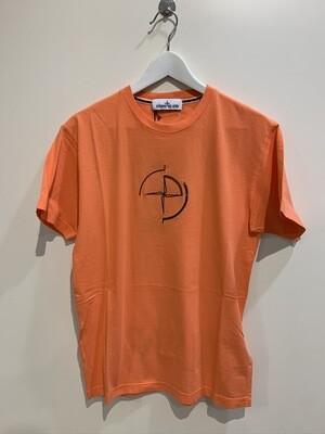 Tshirt m-m cotone stampa fronte retro macro logo STONE