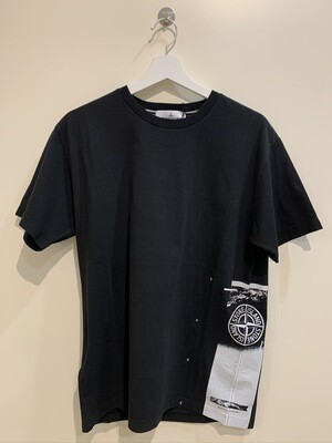 """Tshirt m-m cotone old stampa laterale """" DRONE ONE"""" col. Nero"""