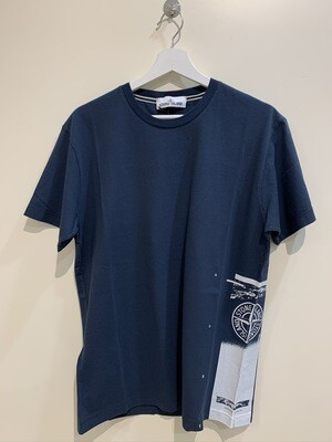 """Tshirt m-m cotone old stampa laterale """"DRONE ONE """" col. Blu Marine"""