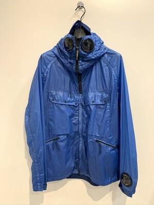 Giubbino nylon gommato tinto in capo,  water resistant, windproof. Col. Sky