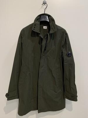 Trench multi fibra canvas nylon, waterproof, traspirante, dettagli zip a scomparsa e spalla C.P. Col. Verde Militare