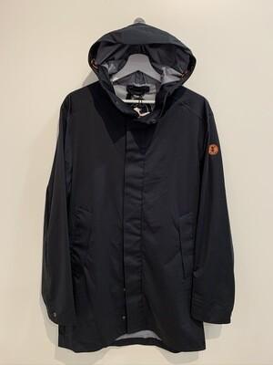 Rainy Coat cappuccio Nylon strech waterproof Col. NERO