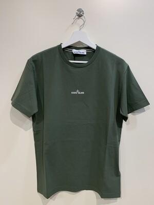 """Tshirt m-m cotone stampa """"DRONE"""" fronte e retro col. Militare"""