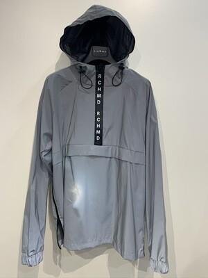 Giubbino REFLECTIVE anorak mezza zip e tasca marsupio JOHN RICHMOND Col. Silver Metal