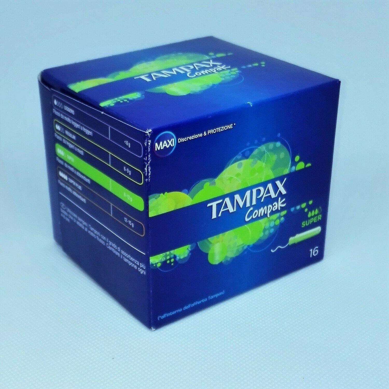 TAMPAX COMPAK SUPER - CONFEZIONE DA 16 PEZZI