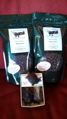 Medium Roast Coffee plus Chocolate Turtles -- Special Price