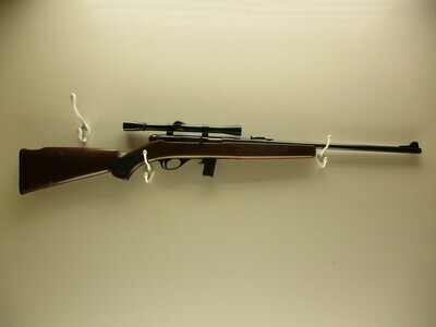 6 Kassner Squires Bingham mod. 2C 22 LR only semi auto rifle w/Weaver scope ser # A076378