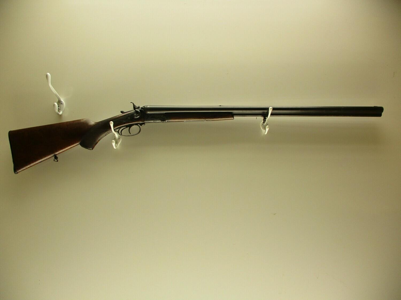 13 Stricker mod. Drilling 16 ga double barrel shotgun w/6.5x58R rifle 3rd bbl antique w/nice engraving hammered ser # 905