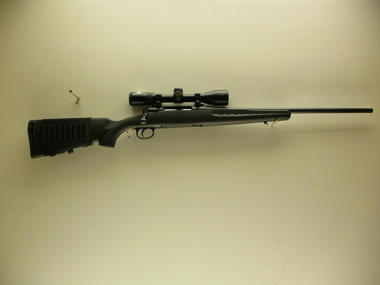61 Savage mod. Axis 30-06 SPRG cal bolt action rifle w/Nikon Prostaff 3x9 scope ser # J125598