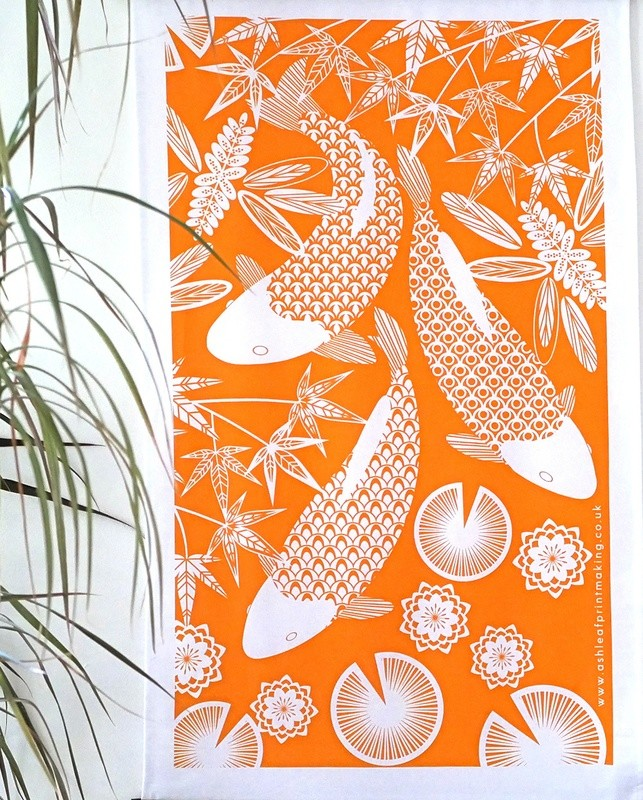 Koi Fish - Tea towel