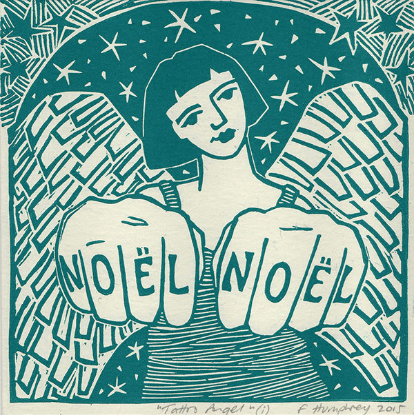 Tattoo Angel I -  Hand-printed Card